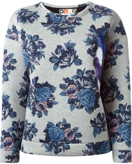 msgm-gray-floral-print-sweatshirt